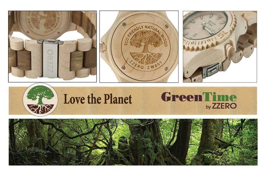 montre Green Time Zzero en bois