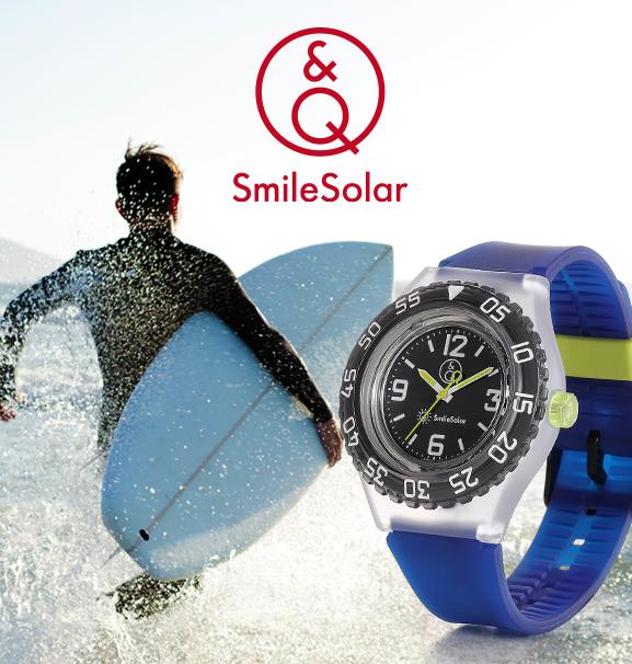 montre smile solar en plastique recyclé