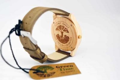 montre vegan avec bracelet en fibre de bambou